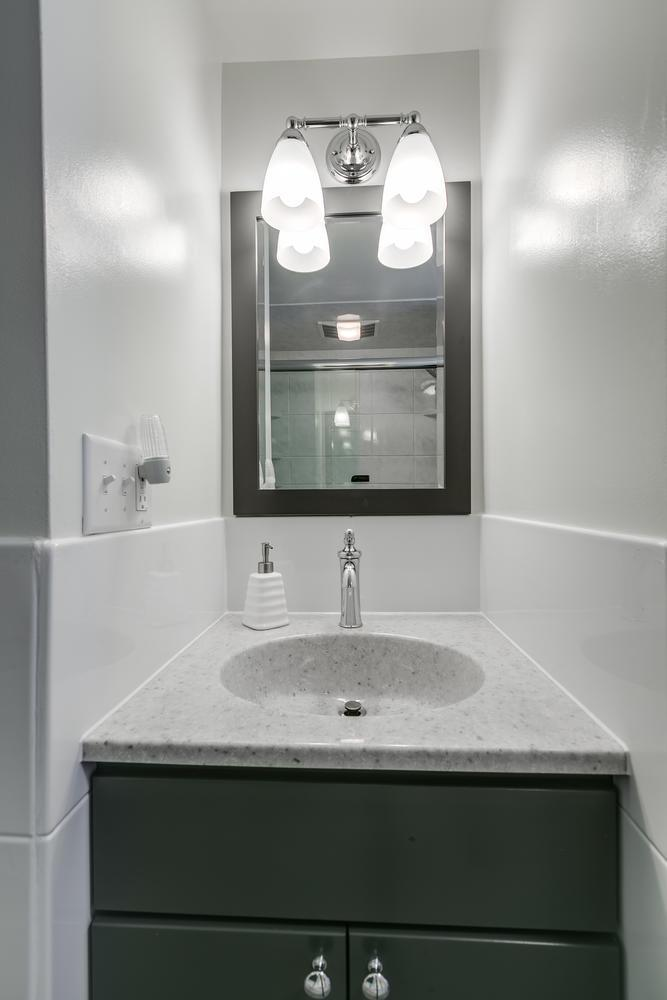 New vanity, top, and wainscot After Re-Bath  Lancaster, PA renovation