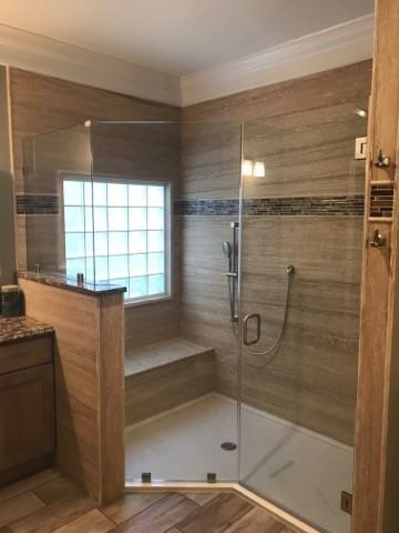 Re-Bath  St. Louis, MOShower Remodel with seat in St. Louis, MO