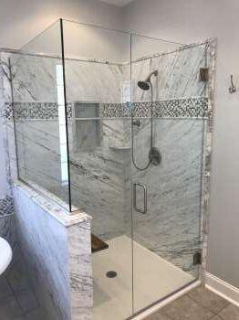 After Natural Stone Shower by Re-Bath  Milledgeville, GA