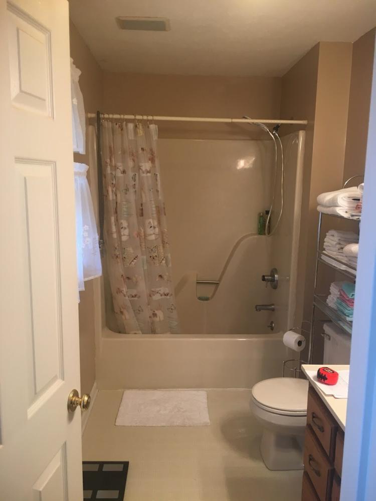 Before Re-Bath  Roanoke, VA renovation