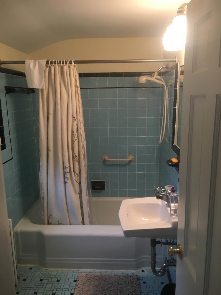 Before Replacement Tub and Wall Surround