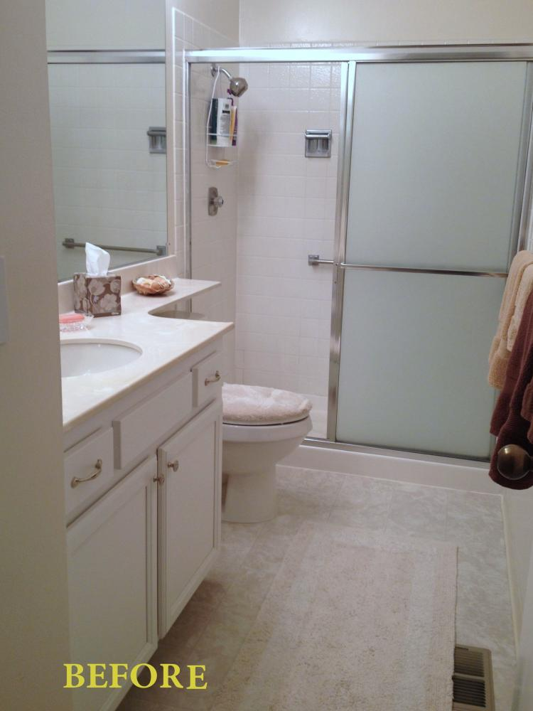 This bathroom in Martinez, CA was basic and boring.  The homeowner wanted a room they would enjoy and one they could be proud of when guests visited.