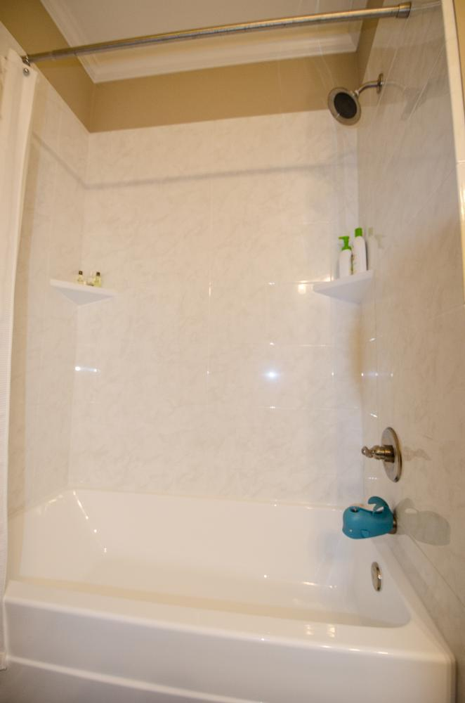 One-piece Shower Tub Combo -Before