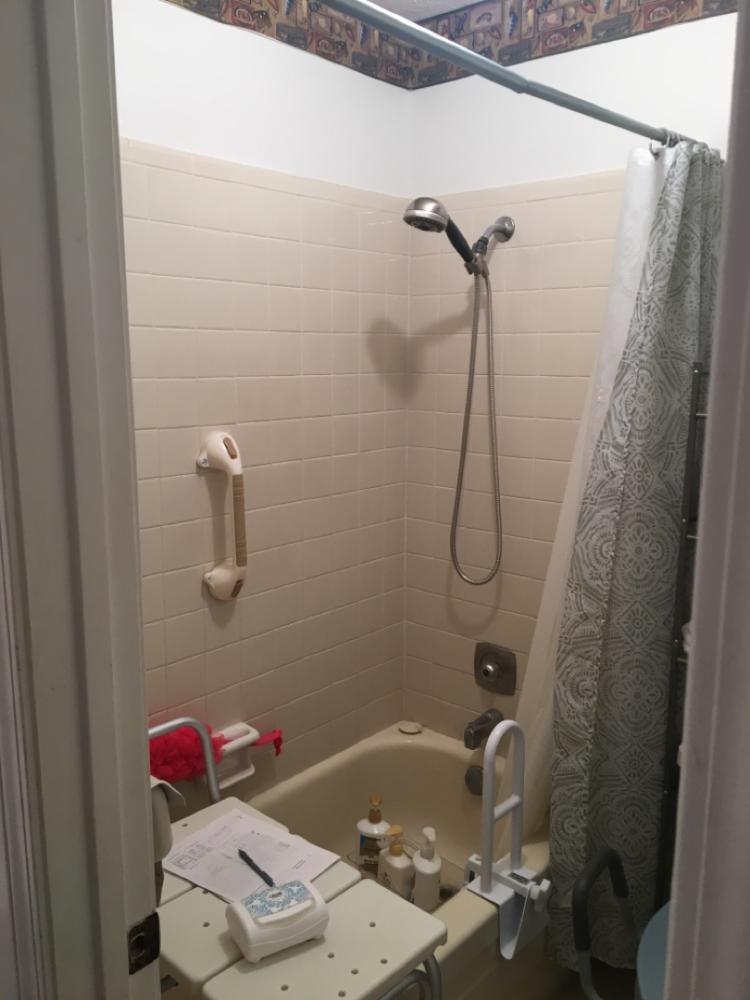 Before Re-Bath  Dothan, AL renovation